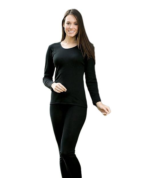 ca25a3328e1 Engel Camiseta térmica de Manga Larga para Mujer 70% Lana de Merino orgánica /30% Seda Mulberry: Amazon.es: Ropa y accesorios