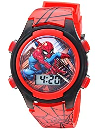 Boys' Quartz Watch with Plastic Strap, red, 16 (Model: SPD3515A)