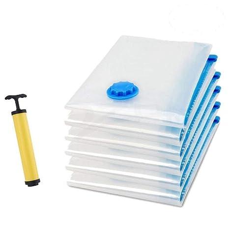 [6 Pack]Bolsas de almacenaje al Vacío, GYOYO Almacenaje al Vacío, Compresión para Guardar Ropa,Bolsas ahorradoras de espacio para ropa,