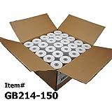 (50) Calculator Paper Rolls, 2-1/4 X 150ft Calculator Adding Machine for Sharp El-1750 1801 Canon P23