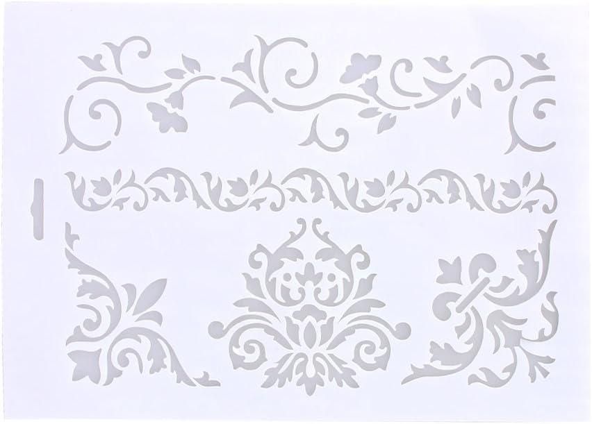 La Cabina Pochoirs /à G/âteau Outils de P/âtisserie Moules /à G/âteaux Craft Cake Stencil Spray Art Tamisez le Sucre Glace Fondant 01
