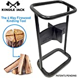 EasyGoProducts Jack Axe Wedge Firewood Kindling Tool Cuts 4 Ways - Wood Log Cracker Splitter-Patent Pending