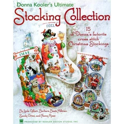 LEISURE ARTS Cross Stitch Stocking Collection