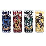 Silver Buffalo HP031T1 Harry Potter Movie 1-8 House Crests Tumbler Set, 4-Pack