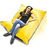 Turbo BeanBags Pillow Style Bean Bag Chair, Large, Yellow/Black