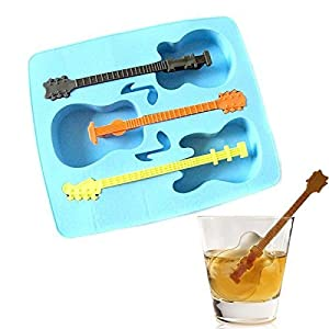 Pakdeevong shop Summer Sale New Ice Mold Tool Drinking Mold Tray Makes Guitar Ice Gifts Weird Ice Tray And Cube