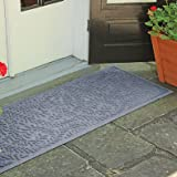 Weather Guard Boxwood 22-Inch x 60-Inch Door Mat | Easy to clean, making it the perfect solution to high-traffic areas (Bluestone)