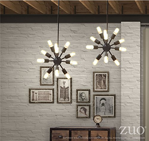 Zuo 98237 Small Sapphire Ceiling Lamp, Rust