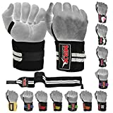 Weight Lifting GYM Training Wrist Wraps For Wrist Support Crossfit Wrap (Black/Grey)
