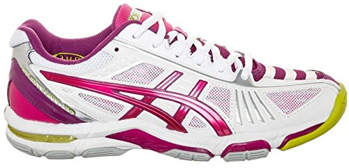 Violet Gel Elite de 2 Asics Volley 47 Volley Dames Chaussures Taille Ball Blanc 6WxfqBHzI