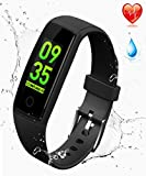 K-berho Fitness Tracker HR, New Version Colorful Screen Smart Bracelet with Heart Rate Monitor,Activity Tracker and Workout Tracker Calorie Counter Pedometer Watch for IOS & Android