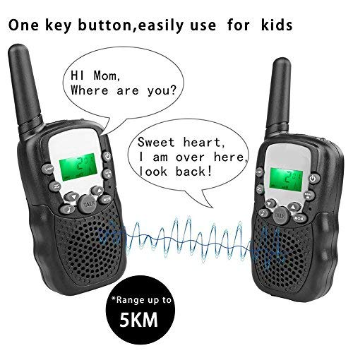 4Pack Kids Rechargeable Walkie Talkie Girls Boys Long Range Two Way Radio 22 Channel LED Flashlight Marine Cruise FRS Camping Accessories Toys Hiking Family Games Outdoor Holiday Birthday Gifts by iGeeKid (Image #2)
