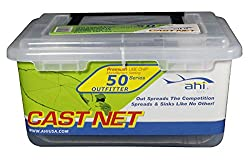 Ahi USA 50 Outfitter Series Monofilament Cast Net, Clear, 4-Feet