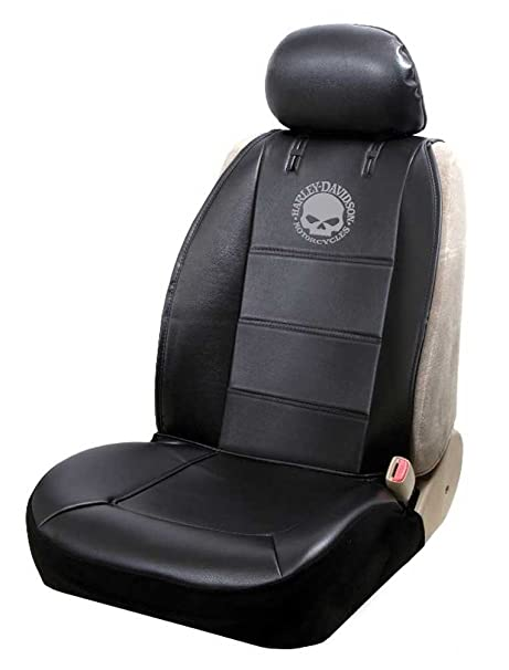 Amazon.com: Harley-Davidson Seat Cover Sideless Black with Willie G ...
