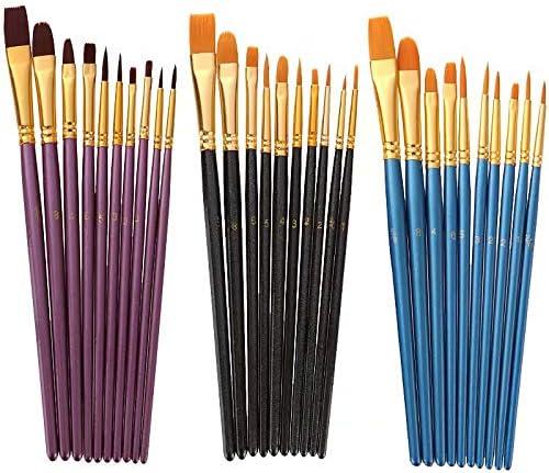 Doyime プラモデル筆 10本セット ペイントブラシ 面相筆 塗装筆 毛筆 絵筆 画筆 極細美術画線筆 ペイントブラシ ペイント筆 ブラシ 極細 鋭い 太筆 細部 ペイント ブラモデル 模型 フィギュア