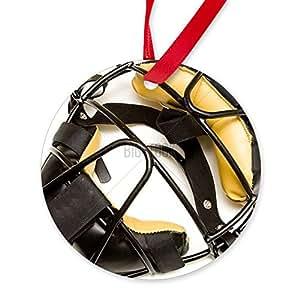 CafePress - Catcher's Mask - Round Ornament