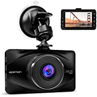 APEMAN Dash Cam Full HD 1080P Car Video Recorder with 3-inch LCD Screen, 170 degree Wide Angle, Build-in Lithium Battery, Parking Monitor, G-sensor, Loop Recording, Motion Detection