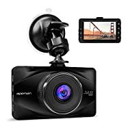 APEMAN Caméra Embarquée 1080P FHD Dashcam Caméra de Voiture 170 °Grand-Angle Enregistreur de Conduite 3 Pouces LCD WDR avec Capteur-G Surveillance de Stationnement et Détection de Mouvement