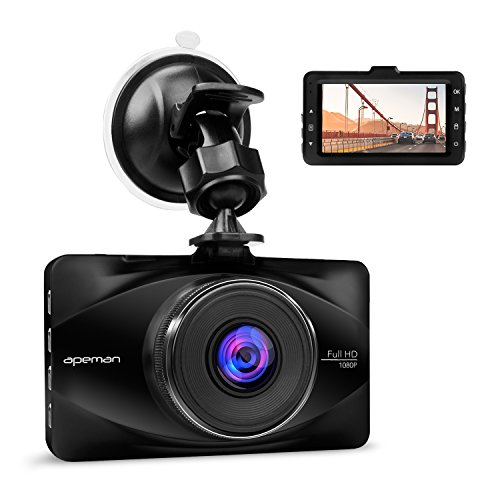 apeman 1080p dash cam 3 inch lcd screen dashboard camera. Black Bedroom Furniture Sets. Home Design Ideas