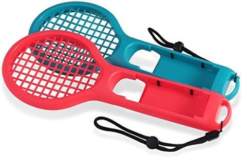 Mecotech Raqueta de Tenis para Nintendo Switch, 2 Pcs Raquetas de ...