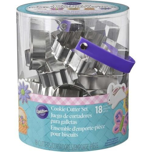 Wilton 2308-5008 18 Piece Metal Easter Cookie Cutter Set (Cutters Easter Cookie)