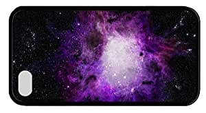 Hipster iPhone 4S cases protective purple orion nebula TPU Black for Apple iPhone 4/4S
