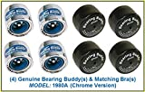 Bearing Buddy (4) 1.980 Boat Trailer Genuine CHROME with Protective Bra & Auto Check 1980A 42202 (2 Pairs)