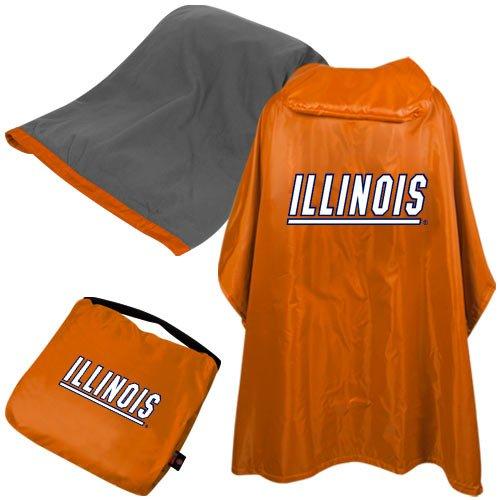 (NCAA Illinois 3 in 1 Rain Poncho)