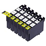 6 Pack Compatible Epson 124 6 Black for use with Epson Stylus NX125, Stylus NX127, Stylus NX130, Stylus NX230, Stylus NX330, Stylus NX420, Stylus NX430, WorkForce 320, WorkForce 323, WorkForce 325, WorkForce 435. Ink Cartridges for inkjet printers. T1241 , T124120 © Zulu Inks