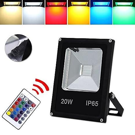 HG® Foco RGB 20W LED Proyector Resistente al agua IP65 Lámpara Exterior LED