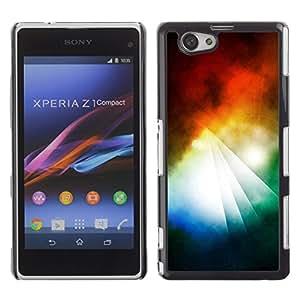 """For Xperia Z1 Compact D5503 , S-type Pirámide abstracto colorido"""" - Arte & diseño plástico duro Fundas Cover Cubre Hard Case Cover"""