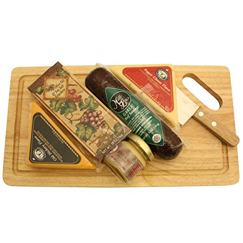 GreatArrivals Gift Baskets Cheese Board Delights: Cheese & Cracker Gift Basket, 2 Pound