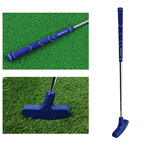 Kofull Junior Mini Golf Putter, 27inch Rubber Double Way Both Right Handed & Left Handed for Kids Height of 35.43-43.31 inch (Ages 6-8)(Blue)