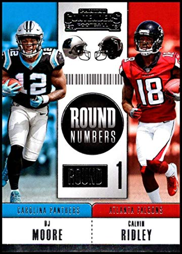 Amazon.com  2018 Panini Contenders Round Numbers  RNA-MR Calvin Ridley DJ  Moore NM-MT Atlanta Falcons Carolina Panthers  Collectibles   Fine Art 0c024114f