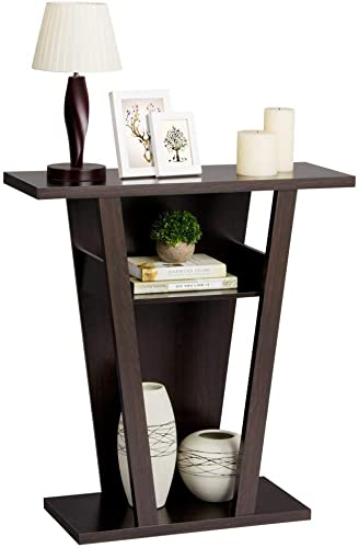 go2buy V-Shape Console Table Sofa Side End Stand Rack Hall Entry Way Living Room