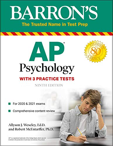 AP Psychology: With 3 Practice Tests (Barron