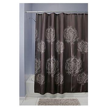 Amazon Com Interdesign Dandelion Fabric Shower Curtain X