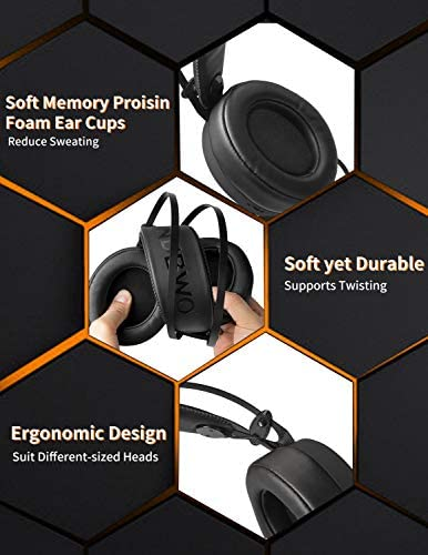NUBWO Gaming headsets PS4 N7 Stereo Xbox one Headset Wired PC Gaming Headphones with Noise Canceling Mic , Over Ear Gaming Headphones for PC/MAC/PS4/PS5/Switch/Xbox one (Adapter Not Included)