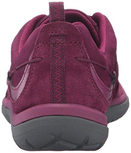 CLARKS Womens Aria Flyer Fashion Sneaker Plum Leather P7XtWMa