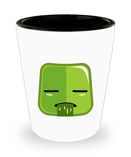 Amazon.com | Square Vomit Emoji Shot Glass - Funny Shot ...