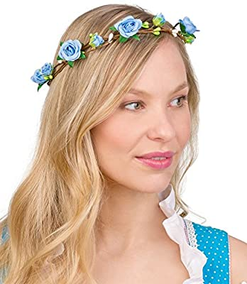 UK/_ Women Rose Flower Beautiful Hair Band Accessory Headband for Wedding Festiva