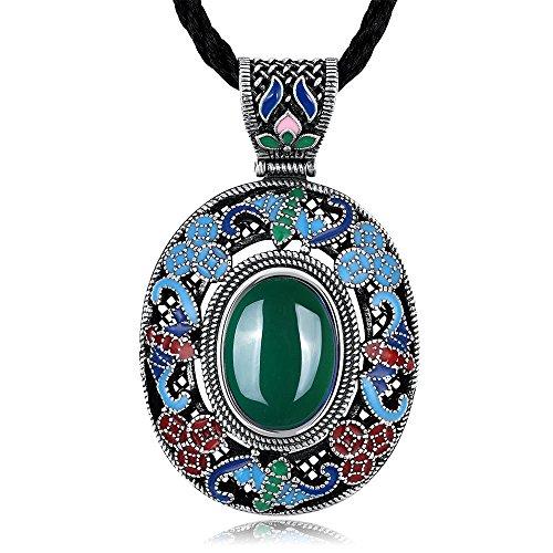 Fashion Jewerly National Style Necklace For Women Ethnic Style Bib Tibetan Tribal Bead Cross Choker