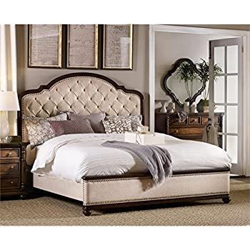 Hooker Furniture Leesburg Queen Upholstered Bed In Mahogany