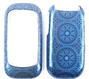 ACCESSORY HARD SNAP-ON CASE COVER FOR KYOCERA LUNO S2100 GLOSS BLUE PATTERN