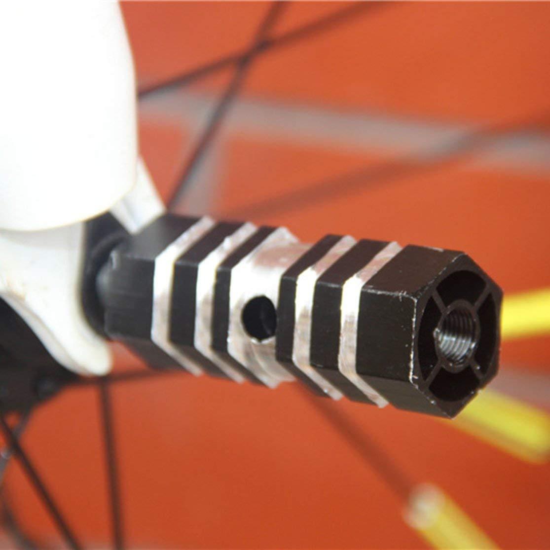 CHANNIKO-ES Soporte de pie de aleaci/ón de Bicicletas Stunt Pegs 2 UNIDS Mountain Road Bicicleta Rueda Trasera Eje Cilindro Pedal Accesorios de Bicicleta