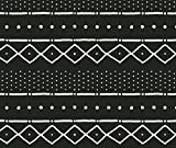 Bone on Fabric - Mudcloth Ii (Petite) in Bone on Black by domesticate - Bone on Fabric with Spoonflower - Printed on Basic Cotton Ultra Fabric by the Yard offers