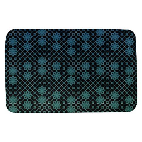Artverse Katelyn Elizabeth Ombre Lattice Bath Mat 24 X 17 Green Blue From Amazon Ibt Shop