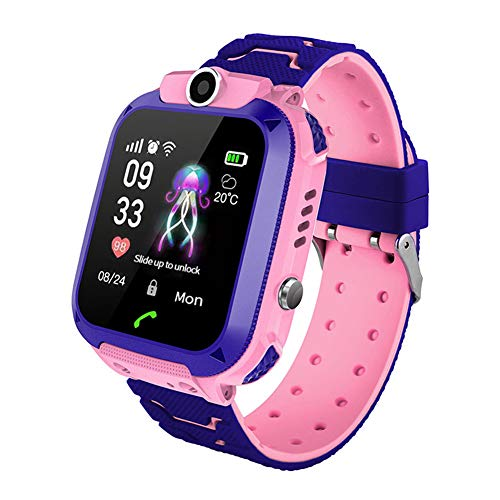 Happy Cherry Boys Girls Waterproof AGPS Smartwatch Two-Way Call HD Touch Screen Phone SOS Camera Games Chirstmas Birthday Gift 3t-12t