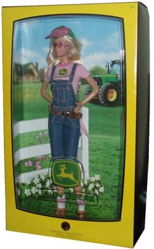 Barbie Collector Pink Label John Deere Edition 12 Inch Doll - Barbie with Short Overalls, T-Shirt, Handkerchief, Belt, Cap, Boots, Sunglasses, Doll Stand and Certificate of Authenticity (Barbie Boot)