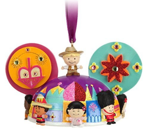 Disney Parks Its a Small World Mickey Mouse Ears Hat Ornament NEW RELEASE ()